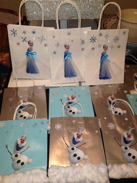 frozen party bags ideas  pinterest frozen