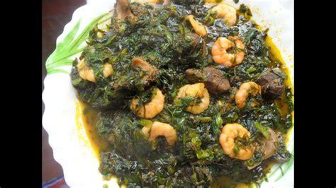 nigerian vegetable soup edikang ikong soup youtube