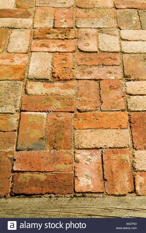 basket weave brick recycled bricks laid in a basketweave pattern in coarse sand as stock photo royalty free image