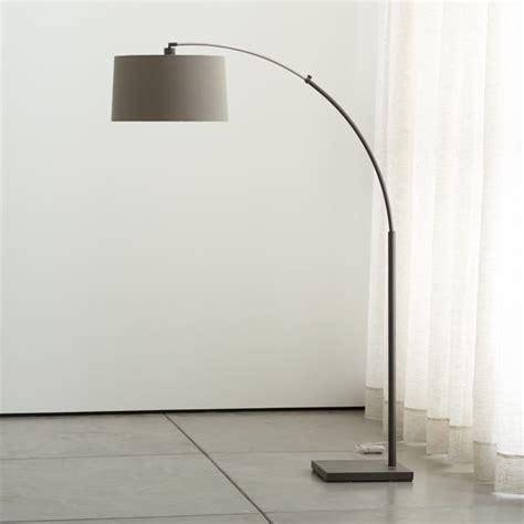 dexter arc floor lamp  grey shade reviews crate