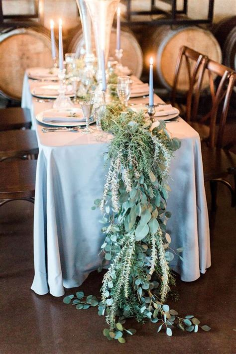 winter wedding table runners   styles