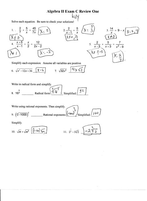Algebra 1 Review For Spring Semester Exam Answers  Arms Jennifer Geometry 2016 2017algebra Ii