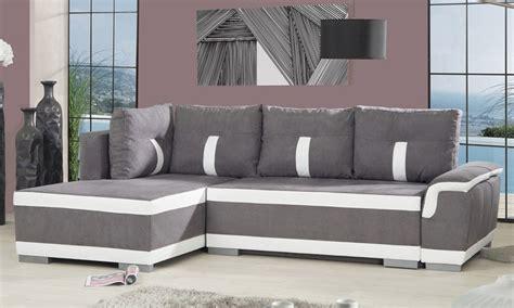 canapé d angle bicolore canapé d 39 angle convertible en lit groupon shopping