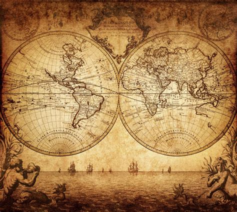 vintage map   world  custom wallpaper