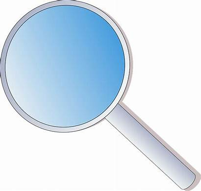 Magnifying Glass Clip Lens Clipart Cartoon Office