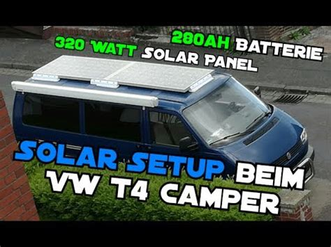 solar setup fuer den vw  camper ah batterie
