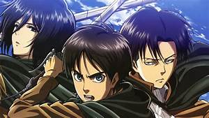 Mikasa Ackerman Eren Yeager And Levi - WallDevil
