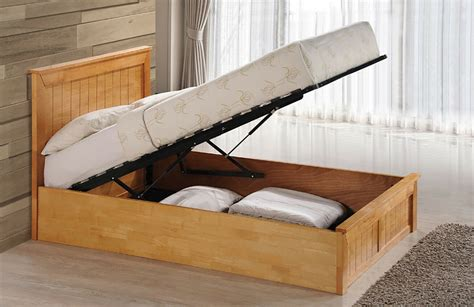 Storage Bed Ottoman by Cornwall Solid Wood Ottoman Storage Bed Frame Oak Various