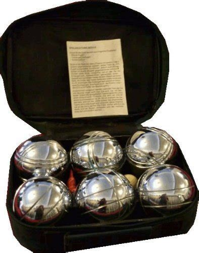 bouleset boccia set   metallkugeln boulekugeln