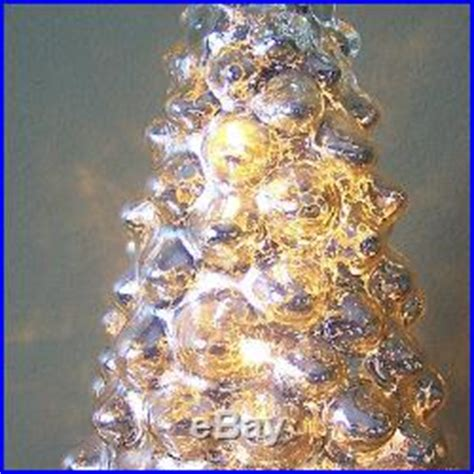 glass light up christmas tree 9 silver mercury glass led light up christmas tree holiday