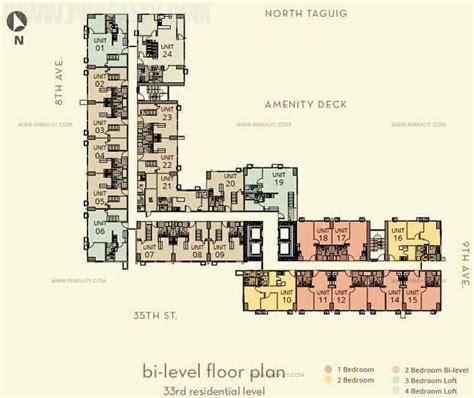 bi level floor plans the montane preselling condominium for sale in taguig