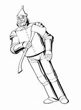 Wizard Oz Tin Colouring Coloring Pages Colour Sheets sketch template