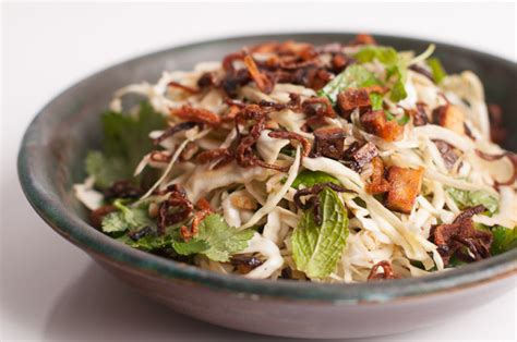 smartcooks vietnamese cabbage tofu  herb salad