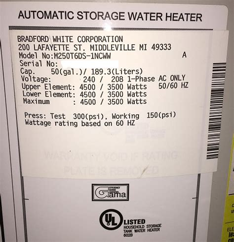 Amp Breaker For Electric Water Heater