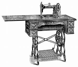 Vintage Sewing Machine ~ Free Clip Art | Old Design Shop Blog
