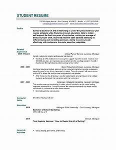 student resume templates student resume template easyjob With cv for graduate school