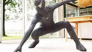 SPIDER-MAN Black Suit Movie Costume Replica! - YouTube