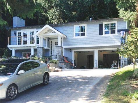 front porch designs for split level homes split level house being transformed into a craftsman style front porch pinterest split