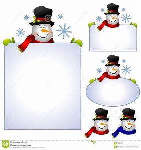 Snowman Banner Clipart