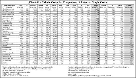 Chart Food Calorie Chart