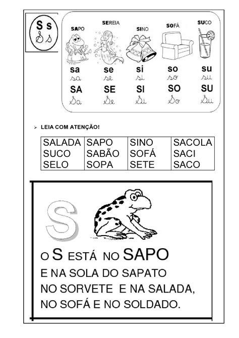 fichas de leitura das s 237 labas simples em letra bast 227 o espa 231 o educar