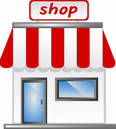 Icon Clip Shopping Clipart Stores Vector Business