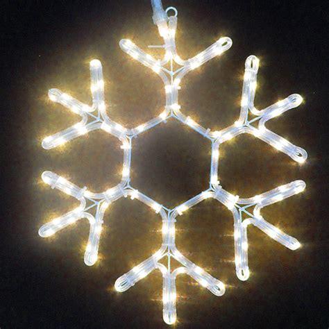 """Warm White 12"""" LED Ropelight Snowflake, 108 LEDS, White"""