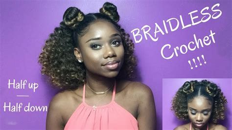 Braidless Crochet!   How To Do A Quick Half Up Half Down