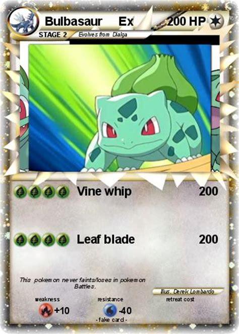 The bulbasaur, we learn, acts as a kind of bodyguard. Pokémon Bulbasaur Ex 7 7 - Vine whip - My Pokemon Card