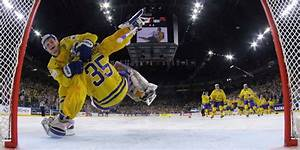 William Nylander tackles Henrik Lundqvist during Sweden's ...