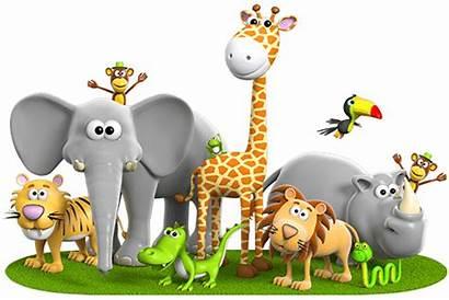 Animal Jungle Animals Stickers Reading Transparent Wall