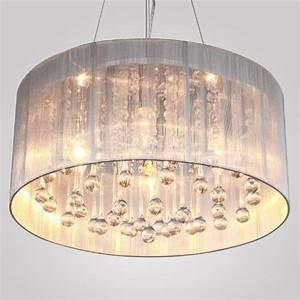 Lightinthebox modern silver crystal pendant light in