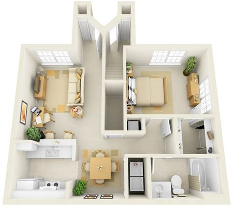 L Shaped Kitchen Designs With Island Pictures - 50 one 1 bedroom apartment house plans architecture design