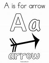 Coloring Arrow Letter Pages Print Bow Printable Letters Getcolorings Abc Twistynoodle Clipartmag sketch template