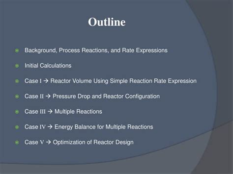 Ppt  Reactor Design Project Synthesis Of Maleic Anhydride Through Partial Oxidation Of Nbutane