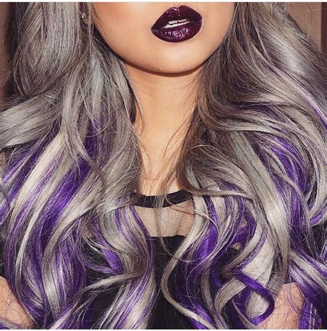 Sliver And Purple Not A Fan Of Silver Hair But This Is