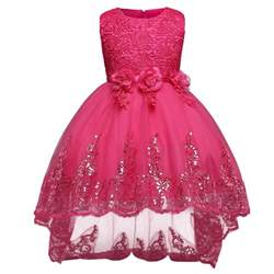 formal batipsm dress sequin petal princess dresses children clothing birthday - Formal Wedding Dresses