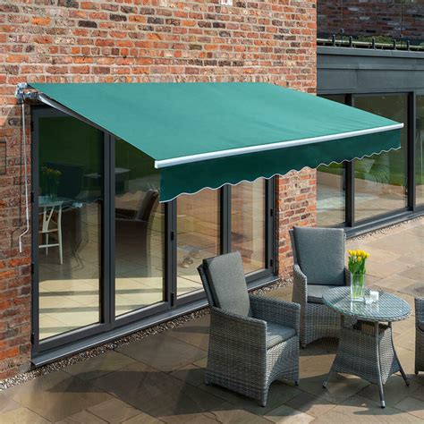 primrose patio awning manual yard canopy sun shade retractable shelter outdoor ebay