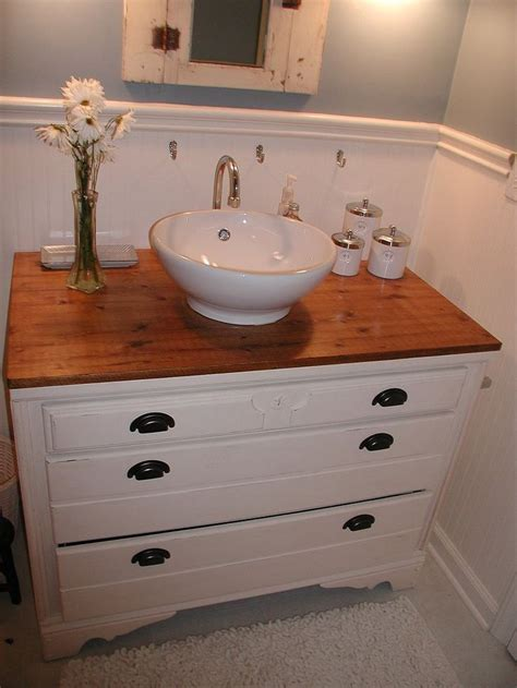 diy bathroom vanity  vessel sink woodworking