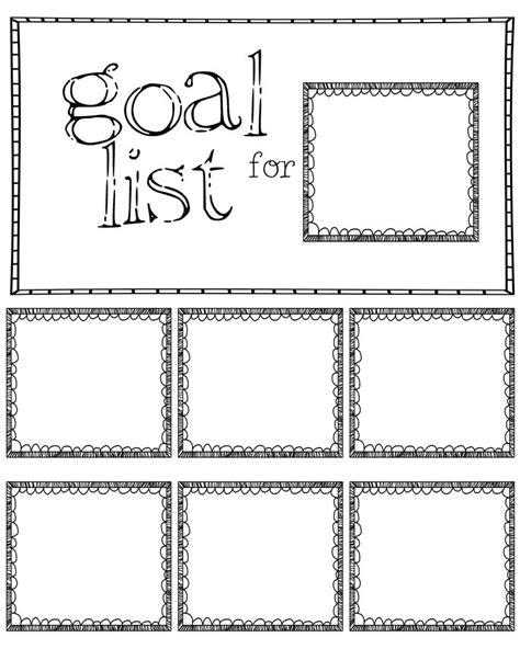 post  note goal sheet