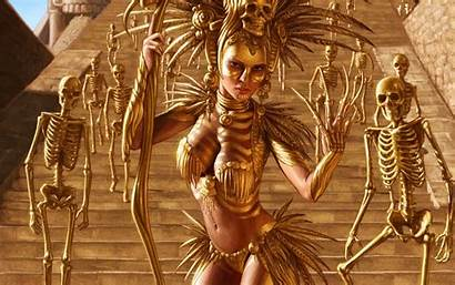 Aztec Fantasy Artwork Witch Undead Skeleton Wallhaven