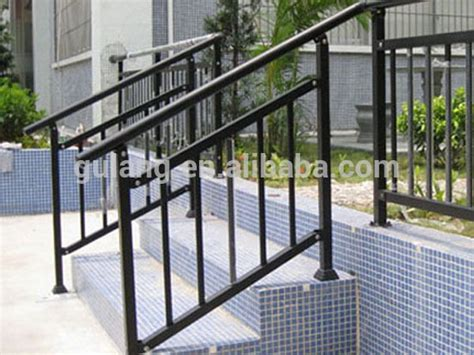 Outdoor Metal Stair Railing Or Removable Aluminum / Steel