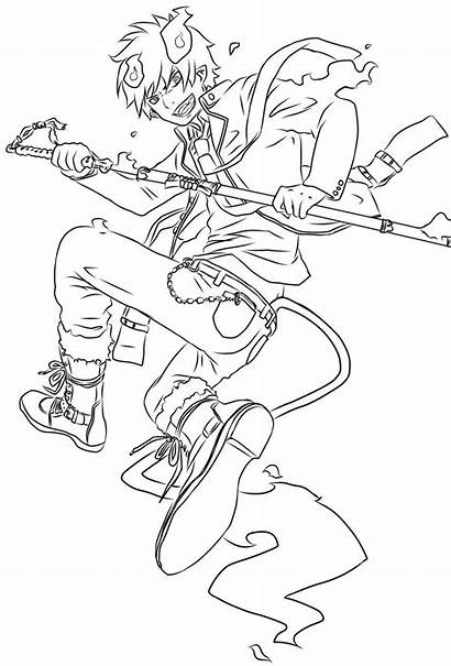 Exorcist Coloring Pages Svg Line Anime Pdf