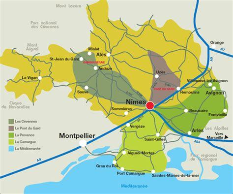 vente de bureaux carte de la région nîmoise camargue cévennes provence