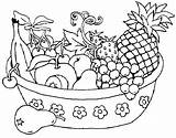 Coloring Salad Pages Fruit Printable Getdrawings sketch template