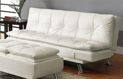 Modern Leather Sleeper Sofa by Modern Black Bycast Leather Arm Futon Sofa Bed Sleeper On