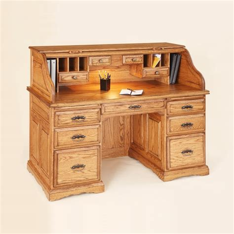 distressed wood computer desk 55 quot roll top writing desk country lane furniture