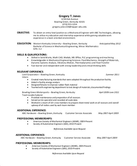 Entry Level Resume by Entry Level Resume Exle 10 Sles In Word Pdf
