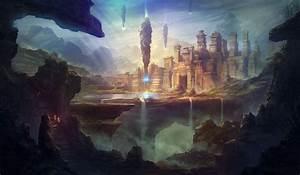 Fantasy, Art, Artwork, Byzwa, Dher, Digital, Art, Waterfall