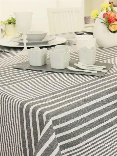 Tischdecke Abwaschbar Hochwertig by Abwaschbare Tischdecke Anthrazit Wei 223 Streifen Breite 120